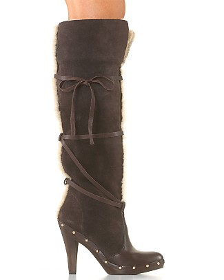 MICHAEL Michael Kors Shearling Clog Boots